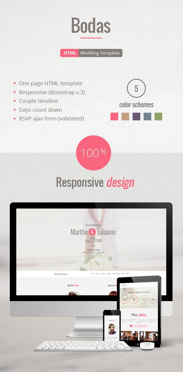 Bodas - HTML Wedding Template